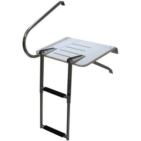 boat swim platform outboard outboard swim platform with 2 step ladder boat outfitters