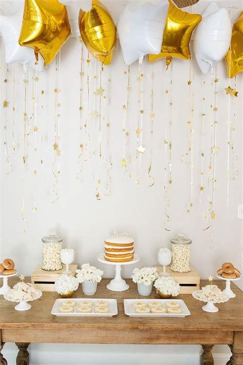 Awesome Baby Shower by Decoration White Baby Shower Tremendous Awesome And Gold Theme 11 With Additional