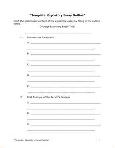 Essay Paper Outline Template by 8 Essay Outline Template Authorizationletters Org