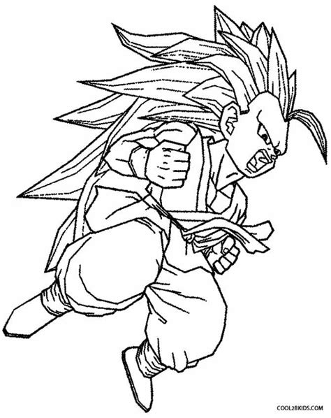 free coloring pages of goku