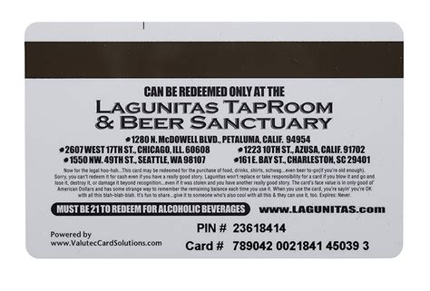 Lagunitas Gift Card - gift card 100
