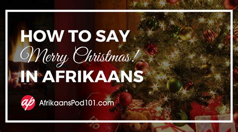 merry christmas  afrikaans afrikaanspod