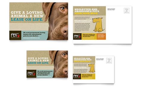 shelter template card pets animals animal shelter pet adoption templates