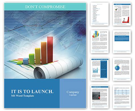 Word Design Vorlagen Erstellen wachstum konzept business hintergrund mit diagramm