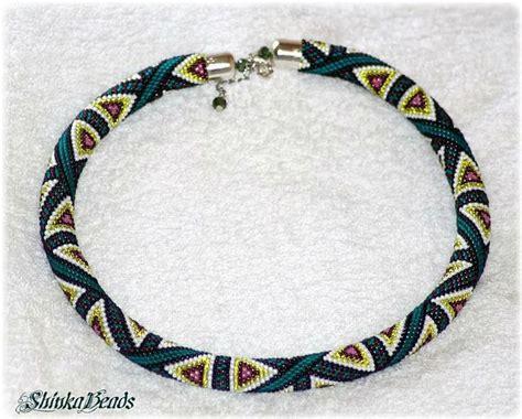 triangle lanyard pattern 29 best bead crochet bracelet images on pinterest bead