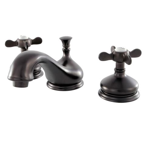 oil rubbed bronze bathroom faucet widespread kingston brass classic cross 8 in widespread 2 handle