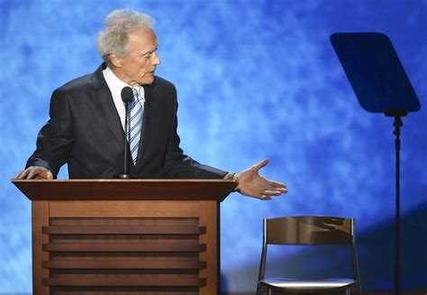 Clint Eastwood Talking To Chair by Clint Eastwood And The Empty Chair Manner Of Speaking