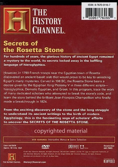 rosetta stone facts in search of history the secrets of the rosetta stone