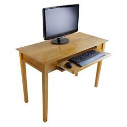 Real Wood Computer Desk Metro Studio Solid Wood Computer Desk In Honey Pine 99042