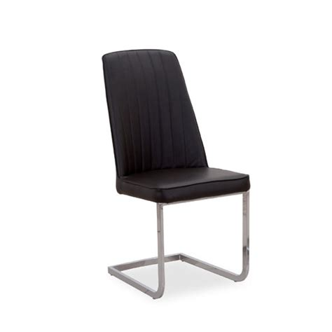 Dining Room Chairs Black Legs Bolza Dining Chair In Black With Chrome Legs 21940