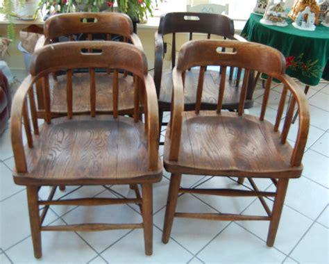 vintage oak chairs 4 antique oak pub chairs by mariaetta chair co ohio