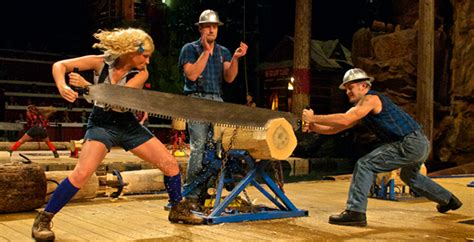 lumberjack feud dinner theater show  pigeon forge