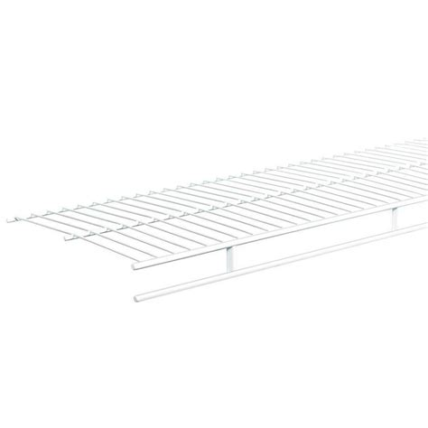 white wire rack shelving closetmaid shelftrack 36 in white wire book shelf 2283