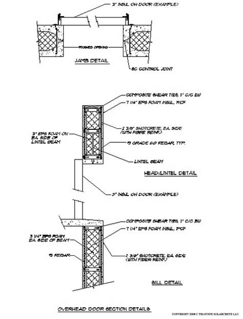 Overhead Door Detail Overhead Door And Window Design Details For The Solarcrete Wall System