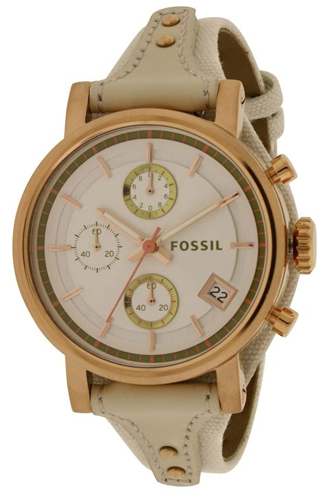 Fossil Es3947 fossil original boyfriend chronograph leather