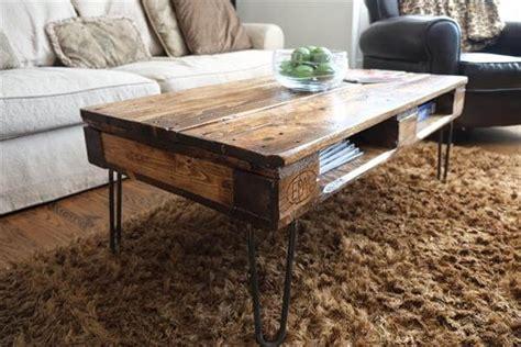 diy pallet coffee table legs diy pallet skid coffee table with metal legs pallet