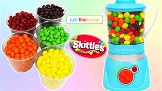 learn colors magic blender mix rainbow skittles