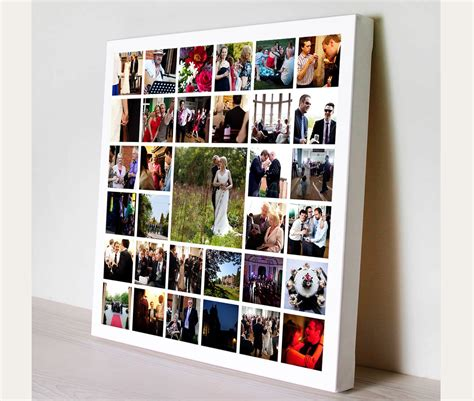 canva photo collage square edge personalised photo collage montage on canvas