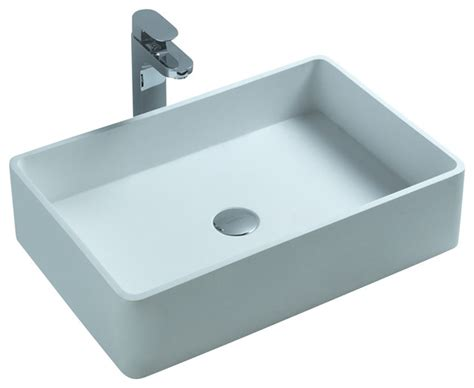 resin sinks bathrooms adm white countertop stone resin sink contemporary
