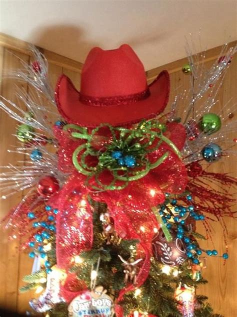 country western hat as tree topper christmas winter
