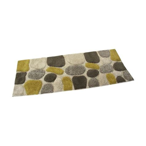Bathroom Rug Runners Chesapeake Merchandising 24 In X 60 In Pebbles Bath Rug Runner In New Willow 45092 The Home