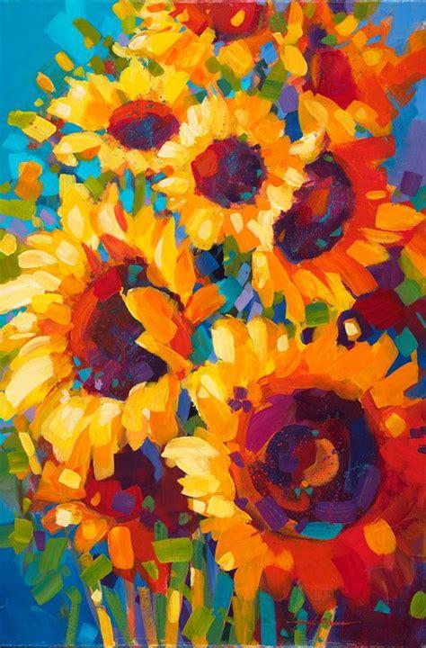 acrylic painting artist best 25 sunflower paintings ideas on