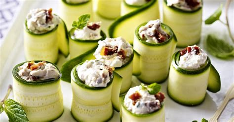 canapes recipes zucchini and goat cheese canap 233 s recipesplus