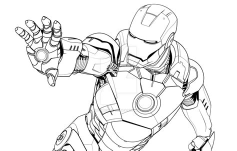 iron man mark 6 coloring pages iron man mark vii lineart by tau omicron mu on deviantart