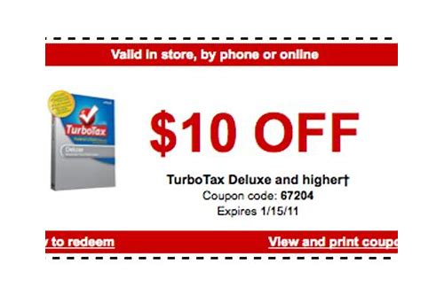 turbotax coupons discounts