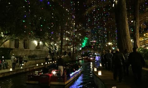 san antonio christmas lights on the river walk hilton
