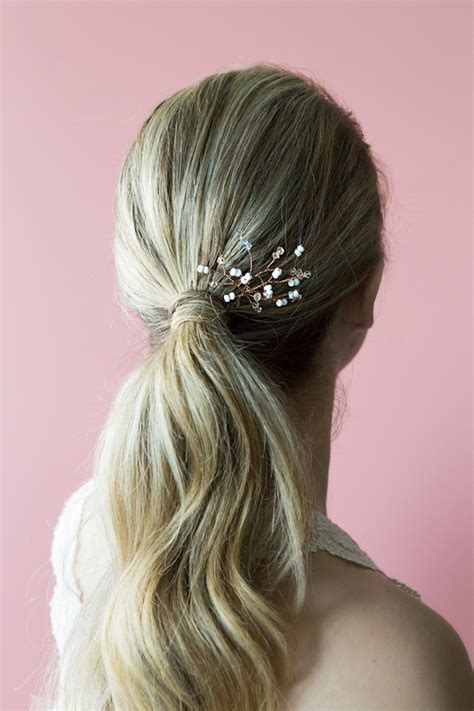 you make this stunning twisted bridal hair pin we promise