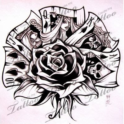 royal flush tattoo designs marketplace royal flush 5736 createmytattoo