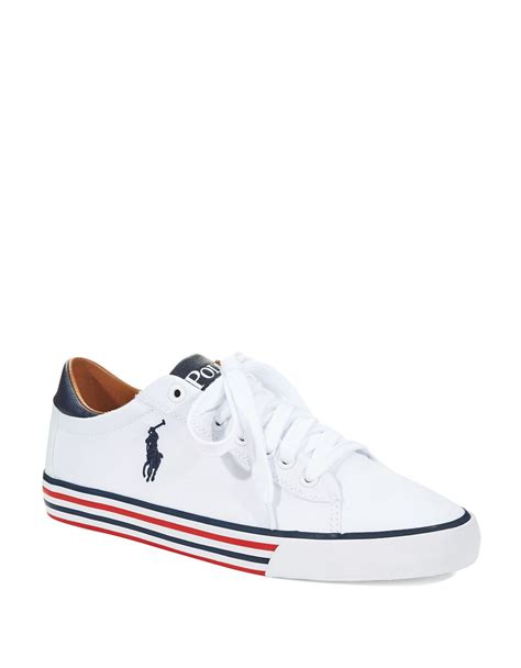 polo womens sneakers lyst polo ralph harvey tennis shoes in white