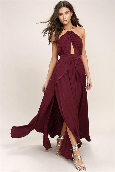 burgundy color dress 1000 ideas about burgundy maxi skirts on maxi