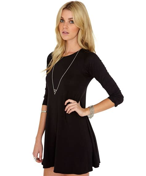 swing dress with sleeves black swing dress with sleeves other dresses dressesss