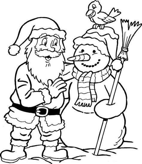 Free Printable Santa Merry Christmas Xmas Coloring Pages Merry Coloring Pages For