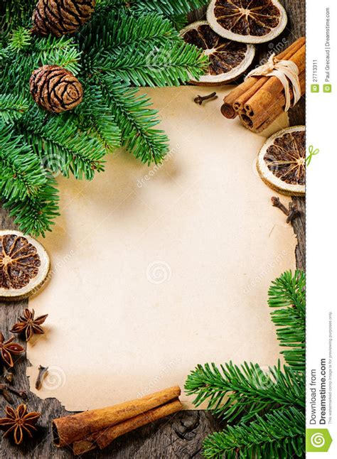 Frame With Vintage Paper And Christmas Tree Stock Image Image Of Greeting Frame 27713311 Vintage Family Frames Tree Stock Image Image 32018791
