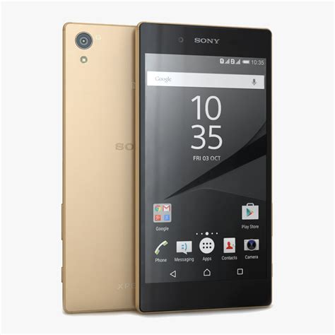 Sony Z5 Gold Second Ori 3d sony xperia z5 gold