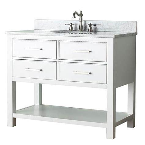 42 Inch Bathroom Vanity Combo White 42 Inch Vanity Combo With White Marble Top Avanity Vanities