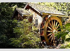 Water wheel house stock image. Image of cabin, round ... House With Garden Clipart