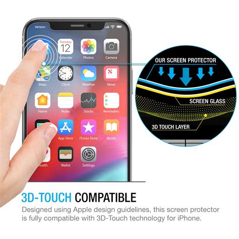 maxboost screen protector for apple iphone xs iphone x clear 3 packs 0 25mm iphone xs x