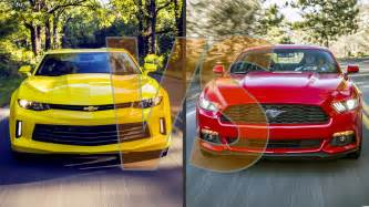 2016 chevrolet camaro vs 2016 ford mustang new speed cars