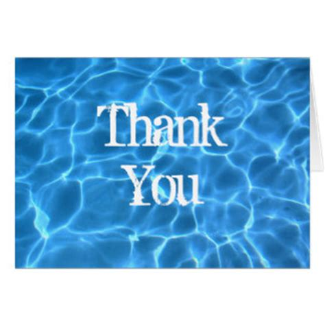 free printable thank you cards swimming swimming pool cards invitations zazzle co uk