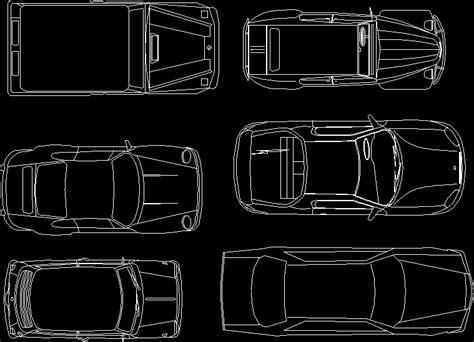 dibujar planos 2d autos 2d en dibujo de autocad bibliocad