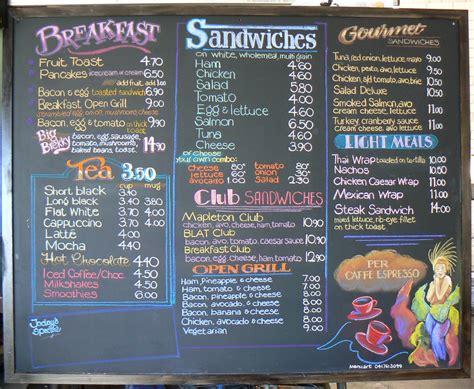 cafe menu boards design cafe menu blackboard handmade signs pinterest cafe
