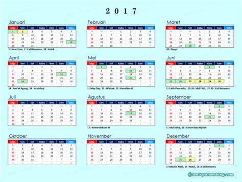 Kalender 2018 Dan Tanggal Merahnya Kalender 2017 Indonesia Lengkap Dgn Libur Nasional
