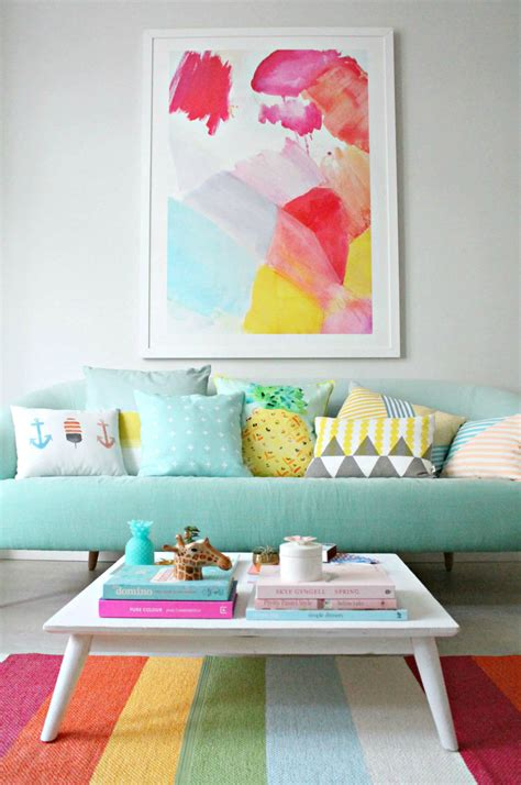 colorful living room decor turn your home into a candy house with pastel colors