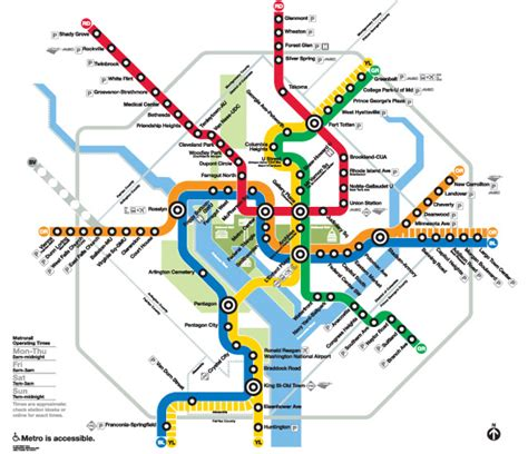 washington dc railroad map click the map to go to the website metrorail