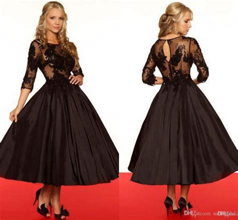 Three Of The Best Tea Dresses by Vintage Black Lace Of The Tea Length Dresses