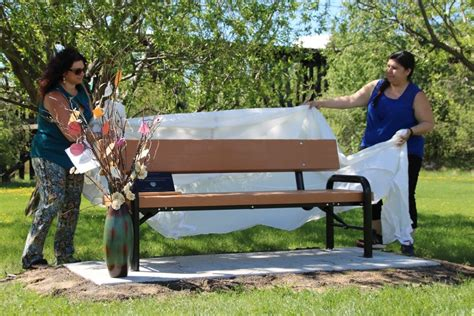 homeless bench homeless memorial bench unveiled my grande prairie now
